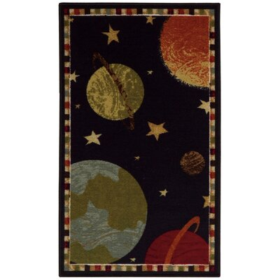 Alexander Black/Gold Area Rug Rug Size: Rectangle 22 x 39
