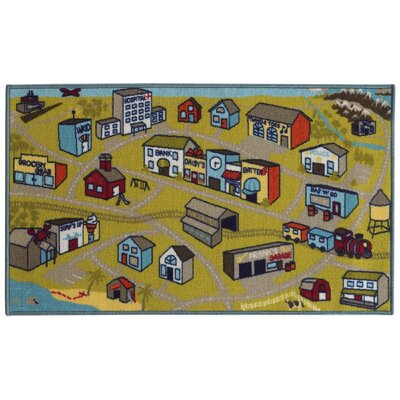 Alexander Green/Blue Area Rug Rug Size: Rectangle 22 x 39