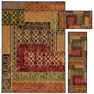 Westview 3 Piece Beige/Multi Area Rug Set