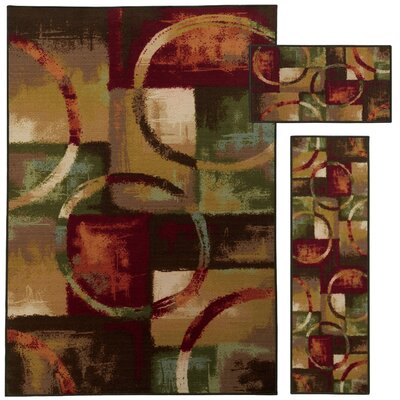Westview Red/Multi 3 Piece Area Rug Set
