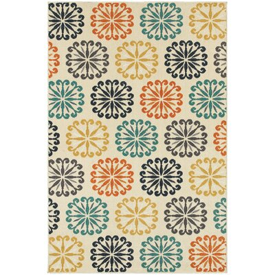 Brookline Ivory Indoor/Outdoor Area Rug Rug Size: Rectangle 53 x 76