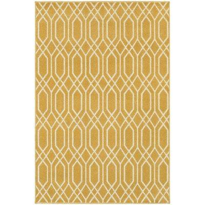 Brookline Gold/Ivory Indoor/Outdoor Area Rug Rug Size: 33 x 5