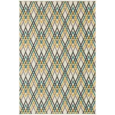 Brookline Ivory/Grey Indoor/Outdoor Area Rug Rug Size: 53 x 76