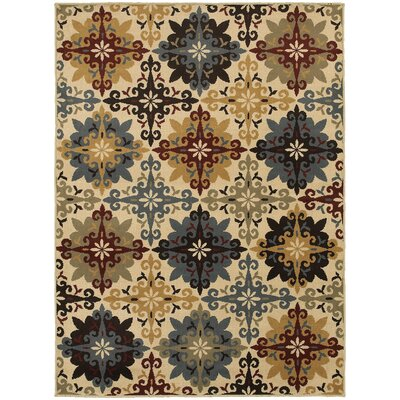 Bretton Geometric Ivory/Multi Area Rug Rug Size: Rectangle 53 x 73