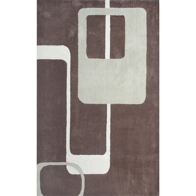 Louis Hand Tufted Brown Area Rug Rug Size: Rectangle 5 x 8