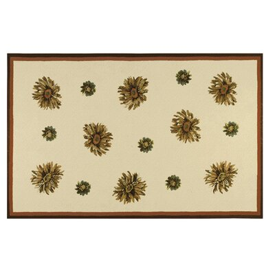 Williams Hand-Hooked Ivory Indoor/Outdoor Area Rug Rug Size: Rectangle 8 x 10