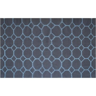 Ridgedale Hand-Hooked Blue Area Rug Rug Size: Rectangle 5 x 7