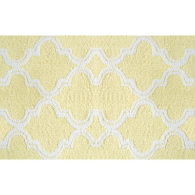 Afton Hand-Hooked Yellow Area Rug Rug Size: 7 x 10