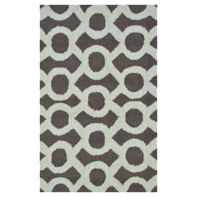 Griffey Hand-Hooked Taupe Area Rug Rug Size: Rectangle 5 x 7