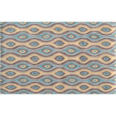 Aiden Brown/Blue Indoor/Outdoor Area Rug Rug Size: 5 x 76