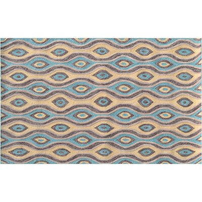 Aiden Brown/Blue Indoor/Outdoor Area Rug Rug Size: 76 x 96