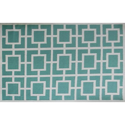Trevor Green Area Rug Rug Size: Rectangle 5 x 7
