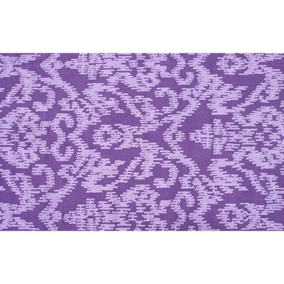 Monahan Hand Hooked Purple Indoor/Outdoor Area Rug Rug Size: Rectangle 5 x 76