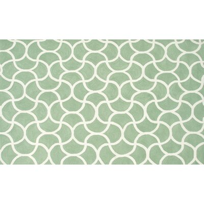 Raymond Hand-Hooked Green Indoor/Outdoor Area Rug Rug Size: Rectangle 5' x 7'6