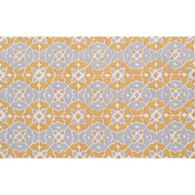 Taylor Hand-Hooked Orange Indoor/Outdoor Area Rug Rug Size: Rectangle 5' x 7'6