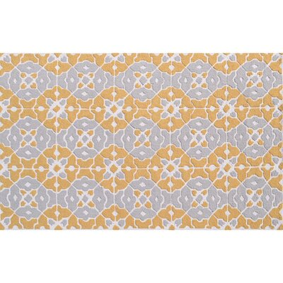Taylor Hand-Hooked Orange Indoor/Outdoor Area Rug Rug Size: Rectangle 76 x 96