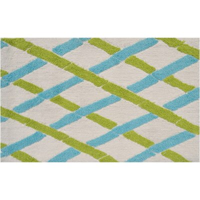 Salem Hand-Woven Aqua/Green Area Rug Rug Size: Rectangle 5 x 7