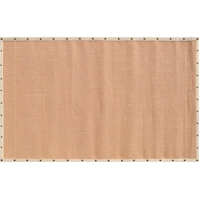 Elwood Hand-Woven Tan/Biege Area Rug Rug Size: Rectangle 8 x 10