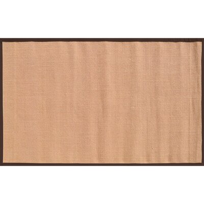 Sangerfield Hand-Woven Tan/Brown Area Rug Rug Size: 5 x 8
