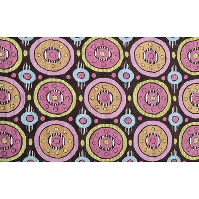 Felix Hand-Woven Pink/Brown Indoor/Outdoor Area Rug Rug Size: Rectangle 76 x 96