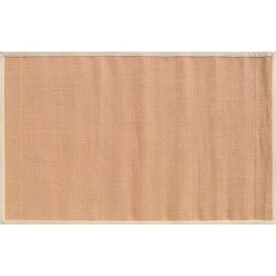 Bethany Hand-Woven Tan/Beige Area Rug Rug Size: Rectangle 5 x 8