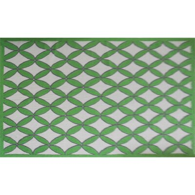 Nanette Hand-Hooked Green Area Rug Rug Size: Rectangle 7 x 10