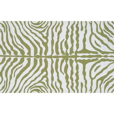 Hillary Hand-Hooked Green/White Indoor/Outdoor Area Rug Rug Size: 8 x 10