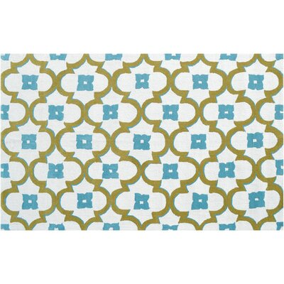 Newstead Hand-Hooked Blue/Green Indoor/Outdoor Area Rug Rug Size: Rectangle 76 x 96