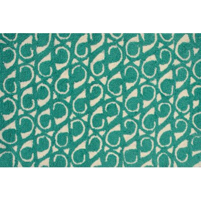 Dedham Hand-Hooked Green Area Rug Rug Size: Rectangle 7 x 10