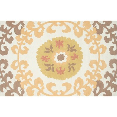 Sedgwick Hand-Hooked Tan Indoor/Outdoor Area Rug Rug Size: 5 x 76