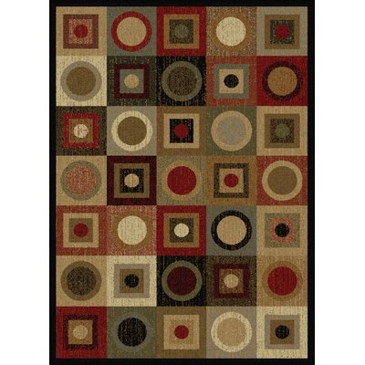 Colette Geometric Red/Brown Area Rug Rug Size: 93 x 125