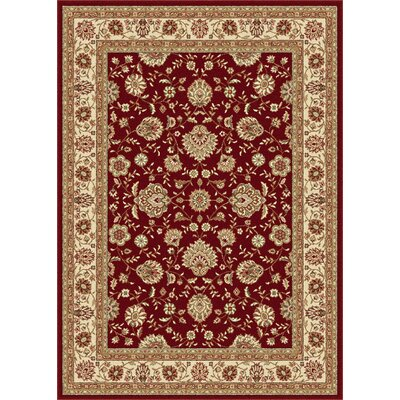 Lapp Red Area Rug Rug Size: Rectangle 93 x 125