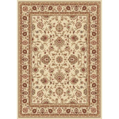 Troxell Beige Area Rug Rug Size: 93 x 125