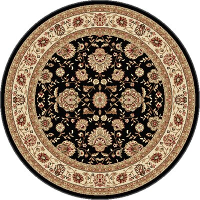 Troxell Black Area Rug Rug Size: Round 5'3