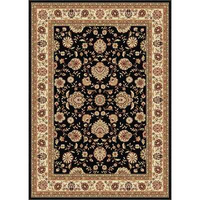 Laplant Black Area Rug Rug Size: Rectangle 5 x 7