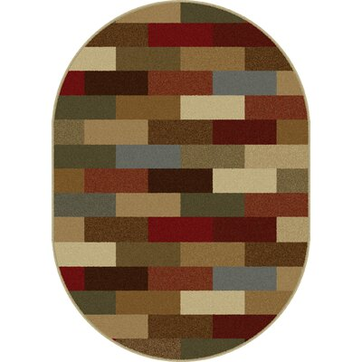Lavalley Multi Area Rug Rug Size: Oval 53 x 73
