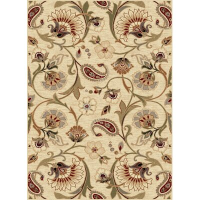 Barbarra Beige/Moss Green Area Rug Rug Size: Rectangle 8 x 11