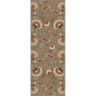 Barbarra Gray Area Rug Rug Size: Runner 27 x 73