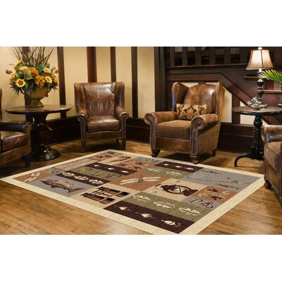Tilson Brown Area Rug Rug Size: 710 x 103