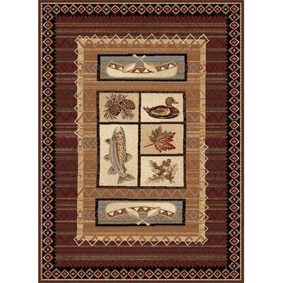 Stanley Brown Area Rug Rug Size: Rectangle 8 x 11