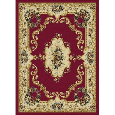Grange Red Area Rug Rug Size: Rectangle 5 x 7