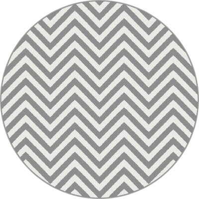 Brookville Gray Area Rug Rug Size: Round 53
