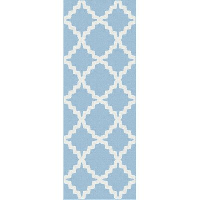 Brookville Blue Area Rug Rug Size: Runner 27 x 73
