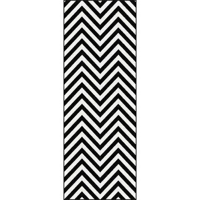 Brookville Black Area Rug Rug Size: Runner 27 x 73