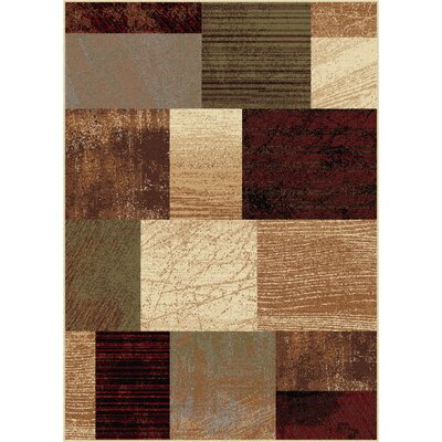 Bayou Contemporary Brown Area Rug Rug Size: 5 x 7