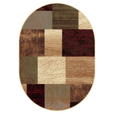 Colette Contemporary Brown Area Rug Rug Size: Oval 5'3
