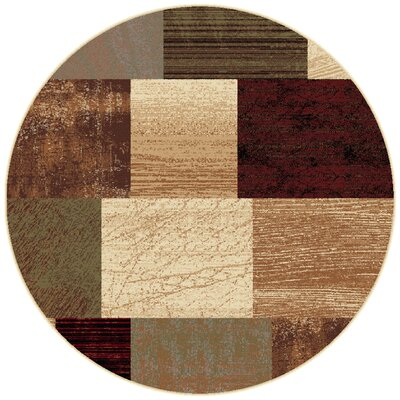 Colette Contemporary Brown Area Rug Rug Size: Round 7'10