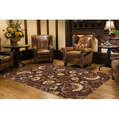 Bayou Brown Area Rug Rug Size: 5 x 7