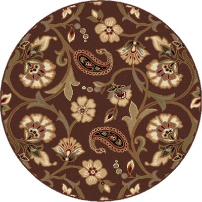 Bayou Brown Area Rug Rug Size: Round 53