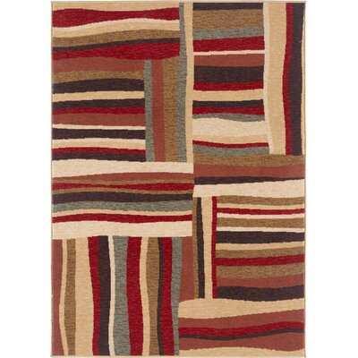 Colesville Red/Brown Area Rug Rug Size: Rectangle 5 x 7